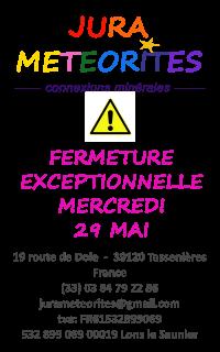 FERMETURE EXCEPTIONNELLE MERCREDI 29 MAI